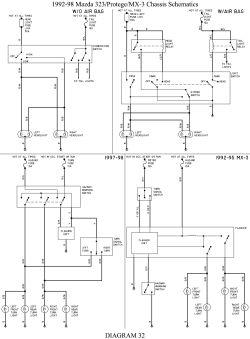 Schema electrique mazda 323
