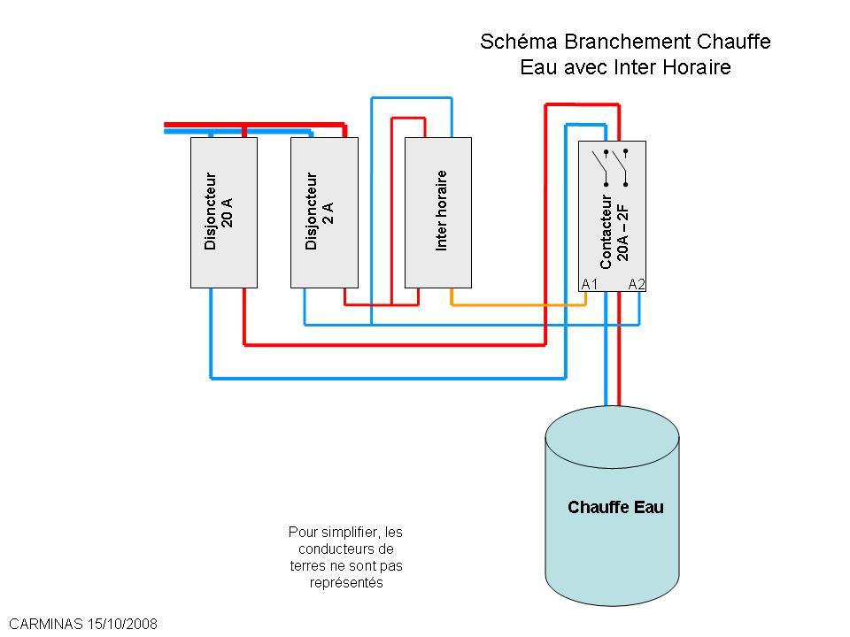 Schema electrique chauffe eau sans heure creuse