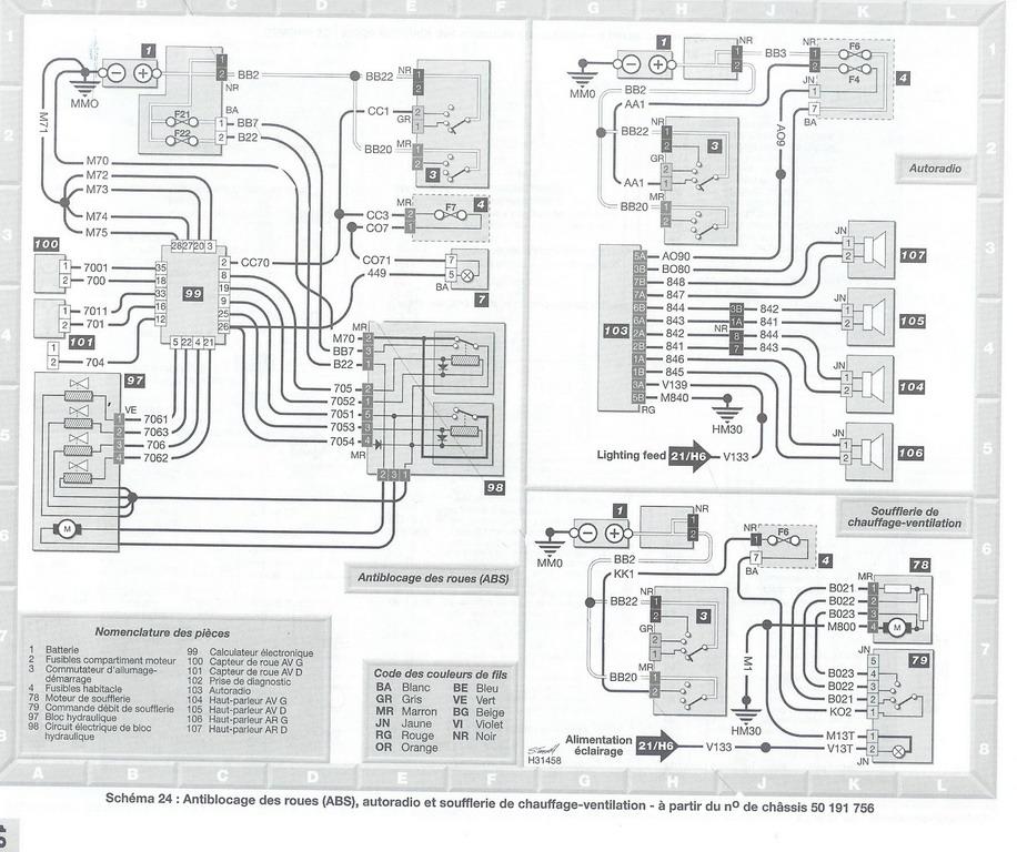 Peugeot 106 schema electrique