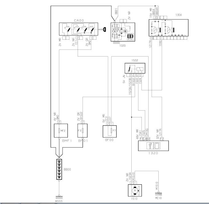 schema electrique allumage electronique 103