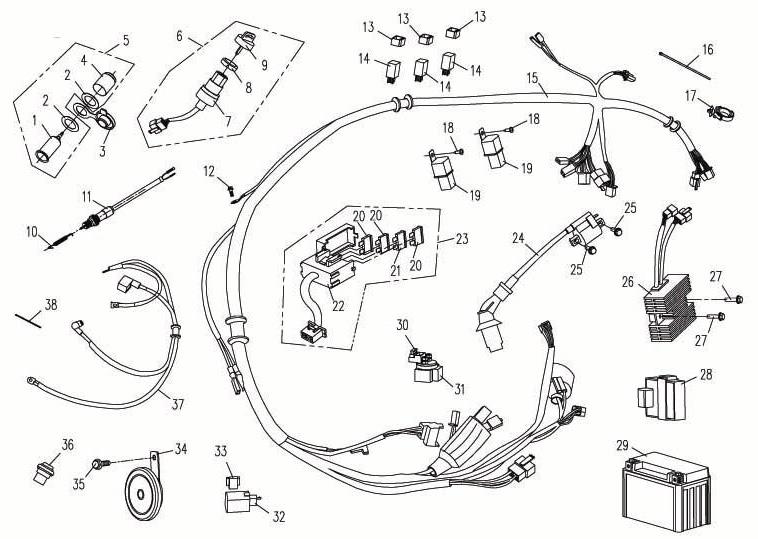 Schema electrique cf moto 550