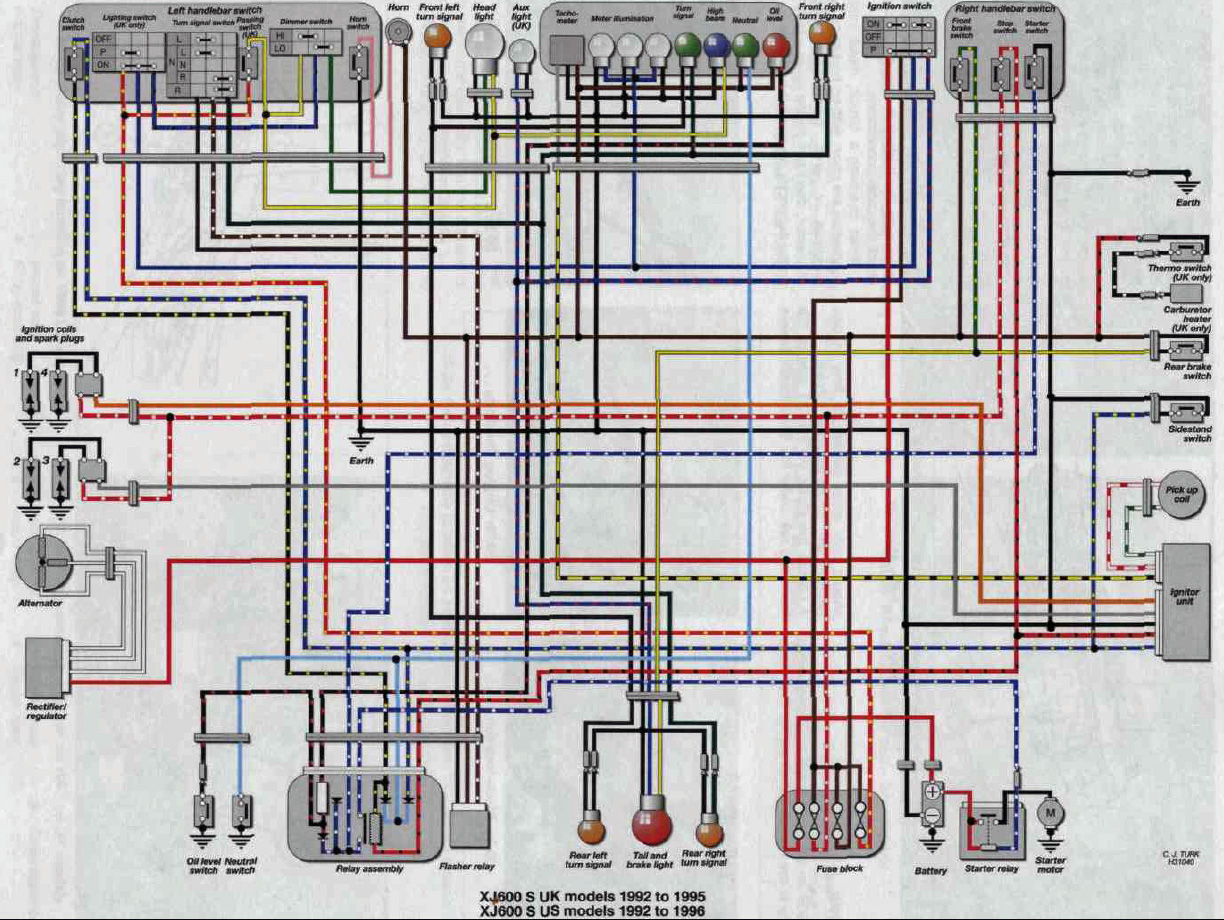 1992_xj600_wiring_diagram Xv Wiring Diagram on 4 pin relay, wire trailer, simple motorcycle, basic electrical, boat battery, fog light, dump trailer, ignition switch, driving light, air compressor, dc motor, limit switch, ford alternator, camper trailer,