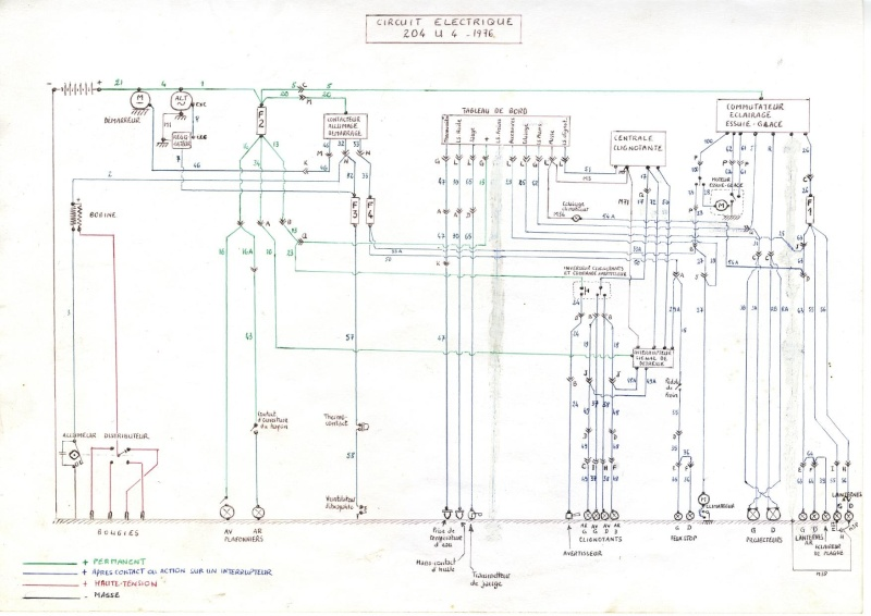 Schema electrique 304 cabriolet