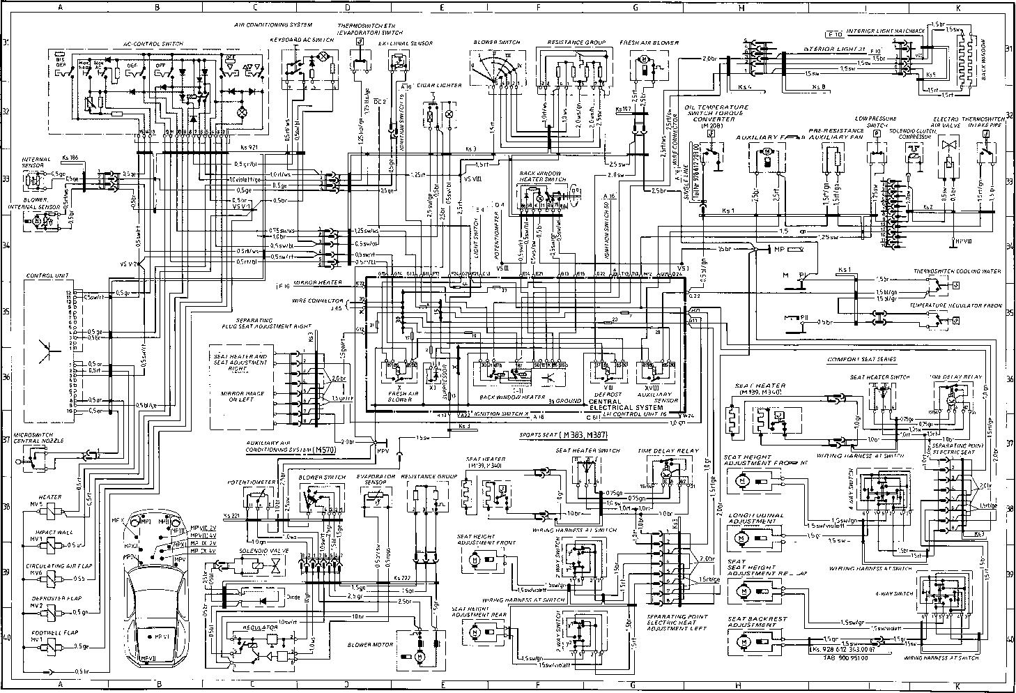 Schema Electrique Porsche 924 Turbo