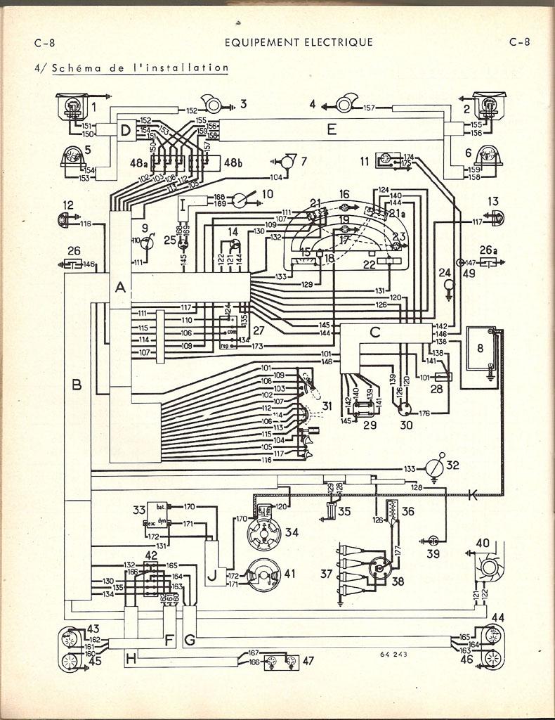 Schéma électrique 4 cv