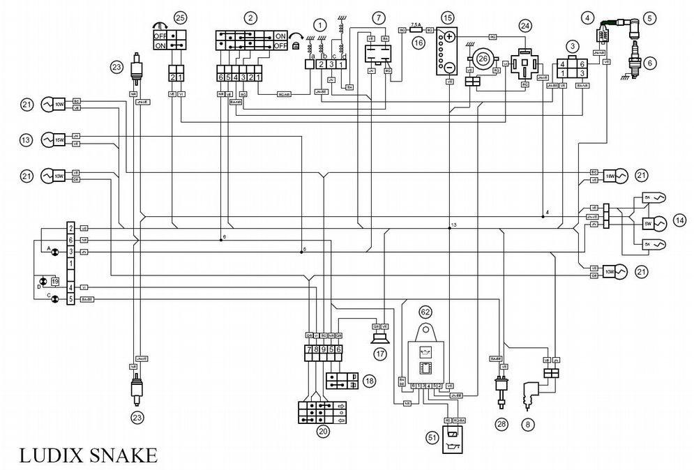 Schema electrique mbk x power