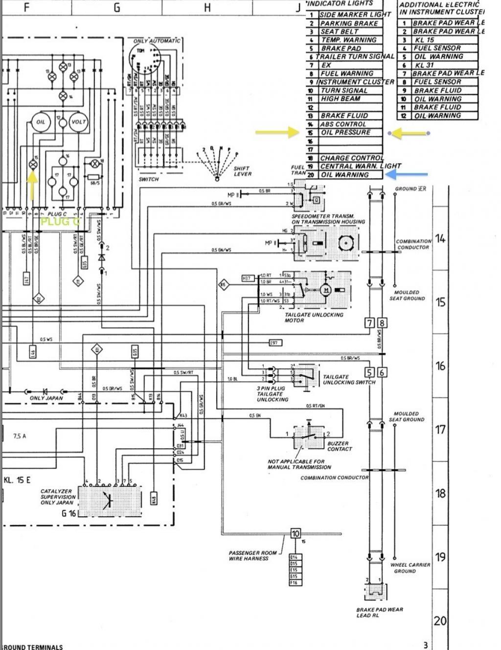 Schema electrique porsche 944