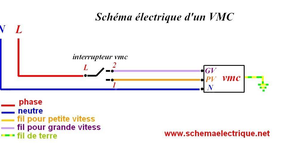 Schéma électrique vmc simple flux