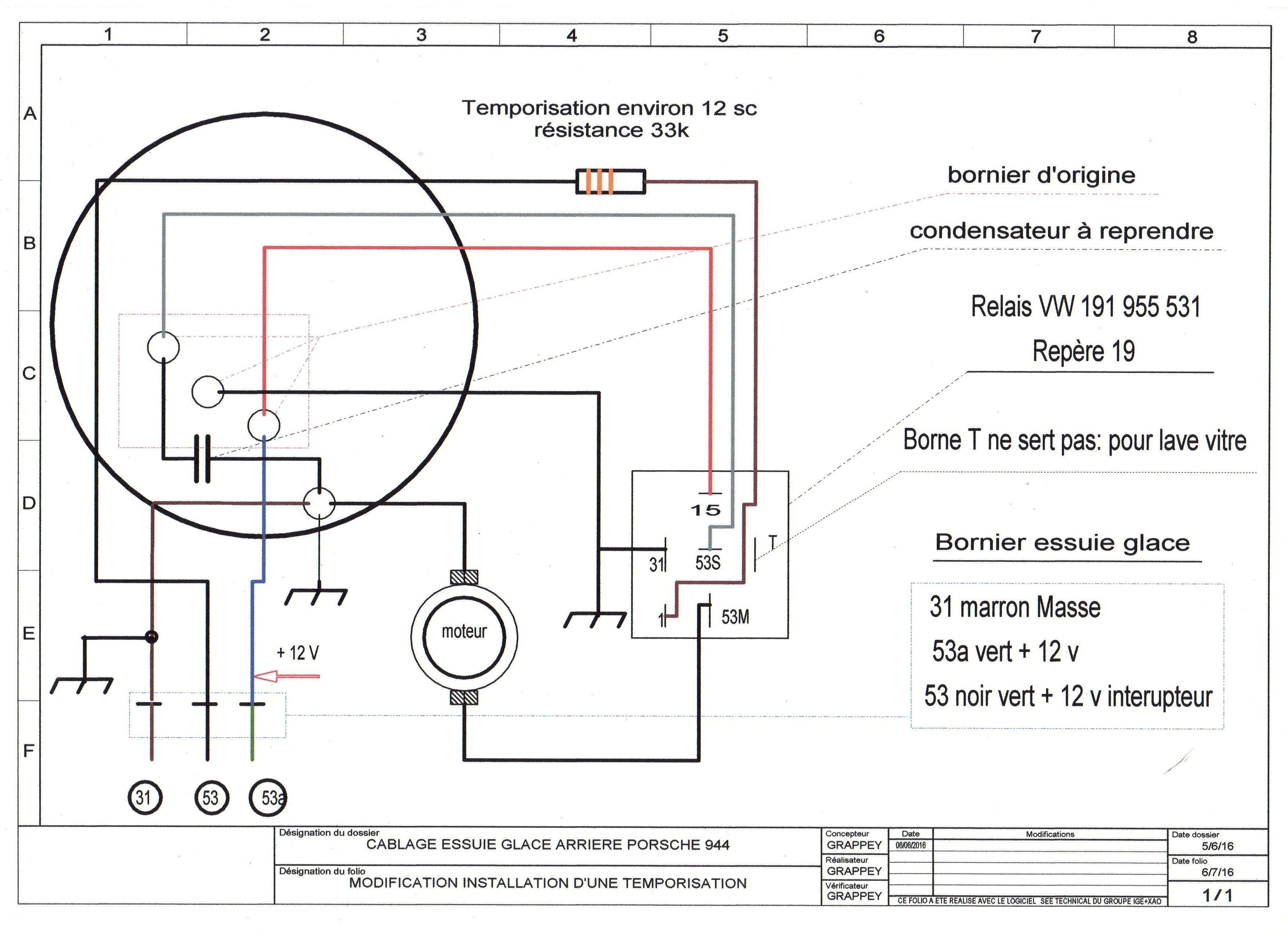 schema electrique moteur d u0026 39 essuie glace