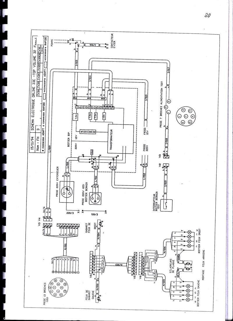 Schema electrique caravane rapido