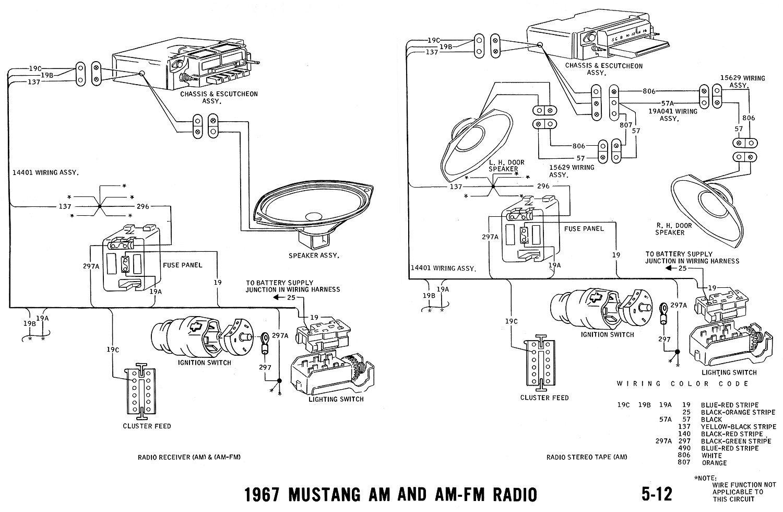 schema electrique mustang 1967