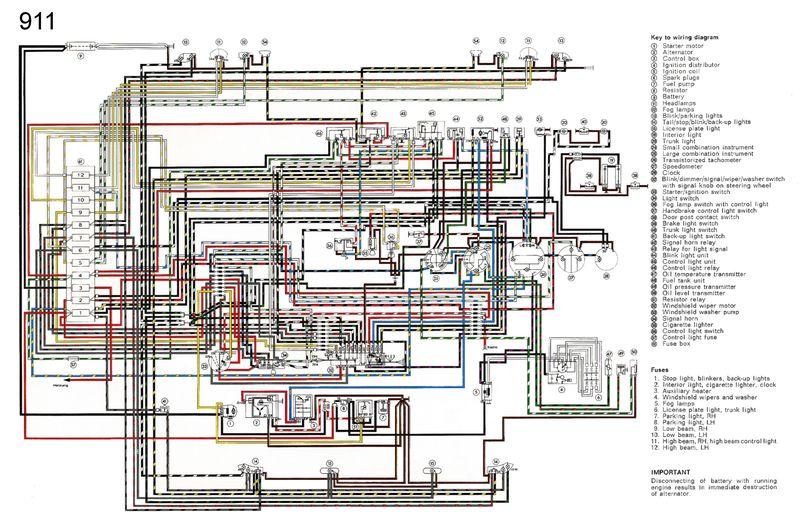 Schema Electrique Porsche 911 3 2