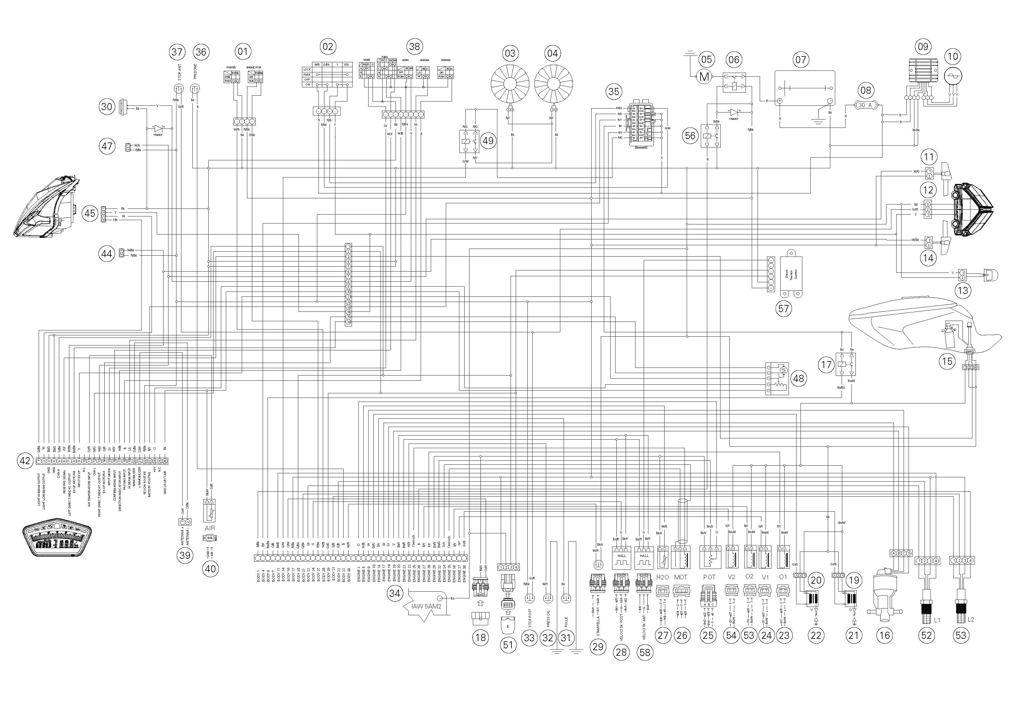 Schema electrique ducati 1098