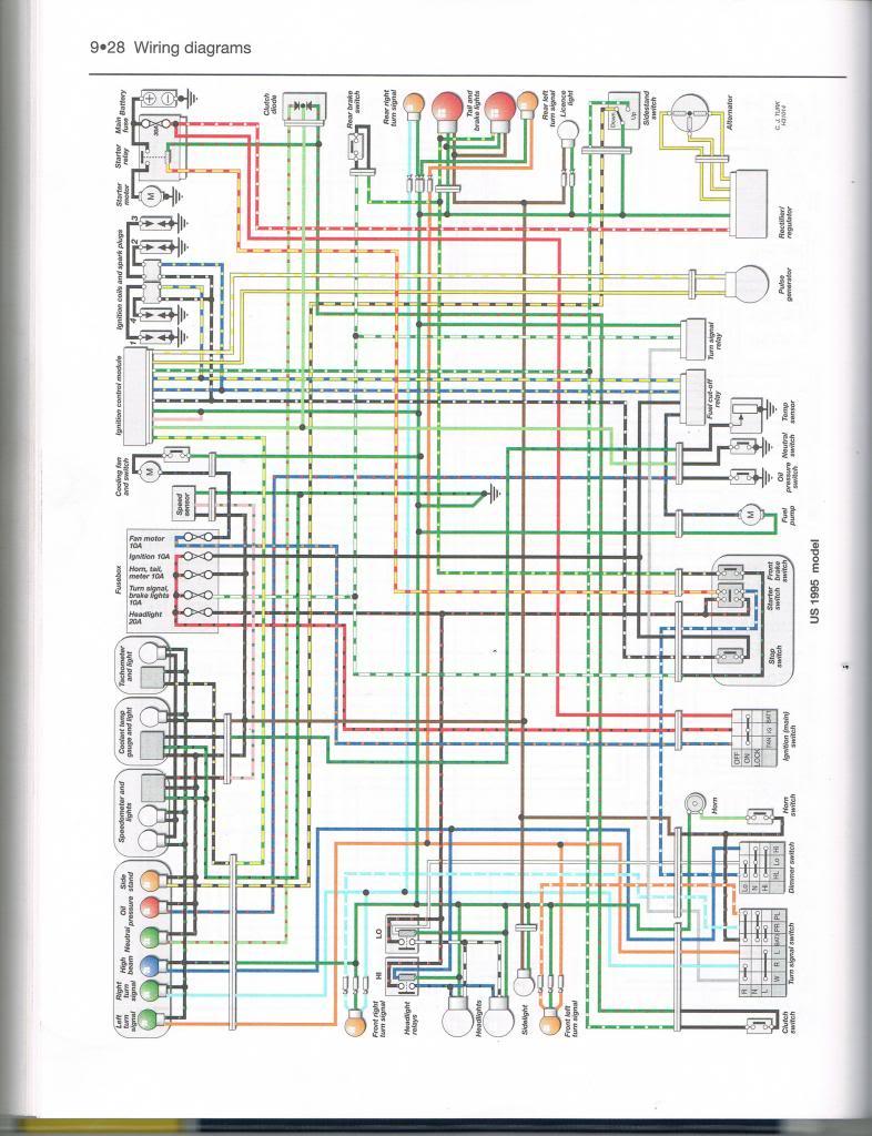 Schema Electrique 900 Cbr 1998