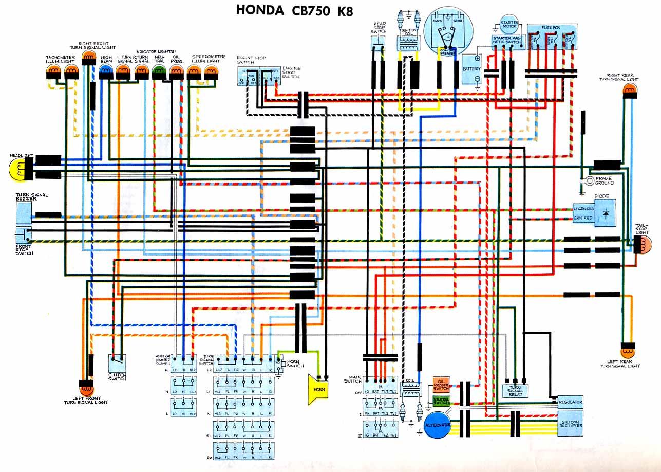 Schema Electrique Honda Cb 550 Four