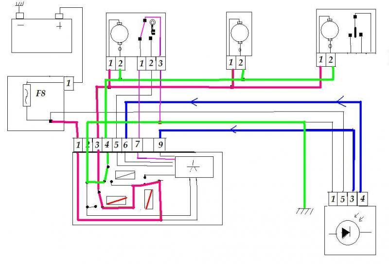 Schema electrique fermeture centralisee 205