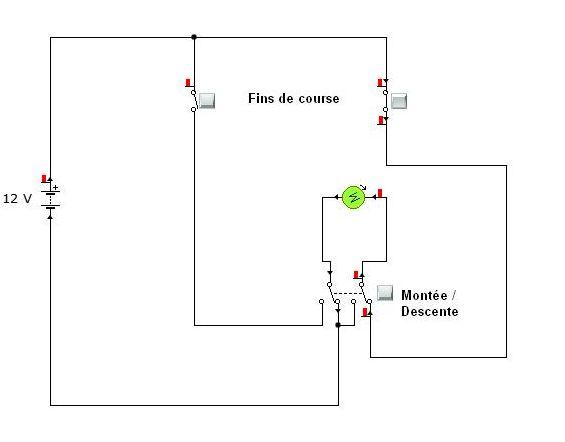 schema branchement verin electrique