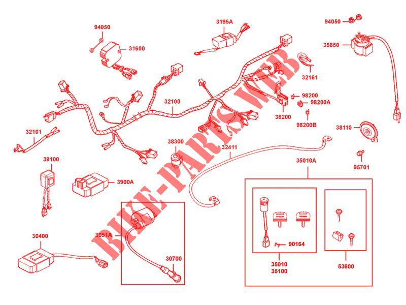 Schema electrique quad kymco maxxer 300