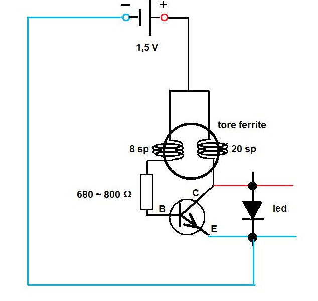 Schema guirlande electrique led
