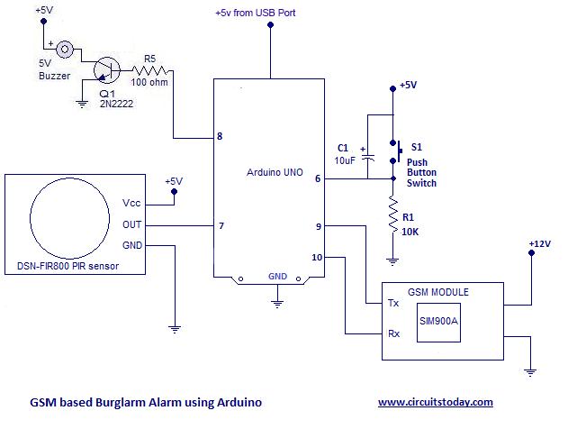 Schema electrique alarme anti intrusion
