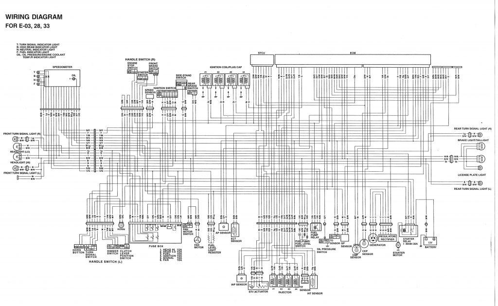 Schema Electrique 750 Gsxr K6