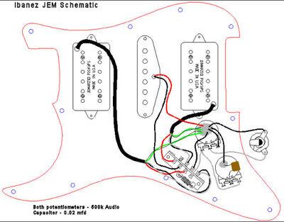 Schema de cablage guitare electrique