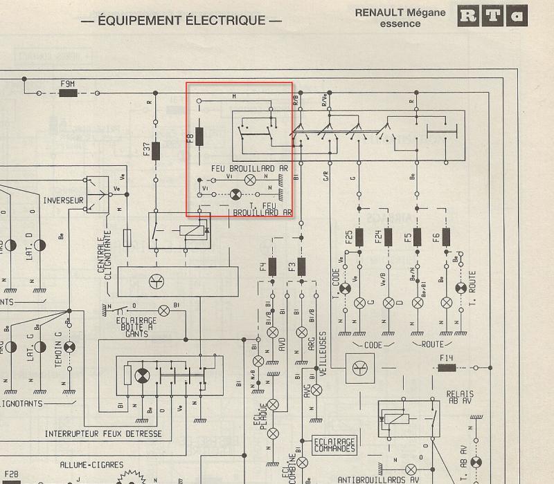 Schema electrique compteur megane