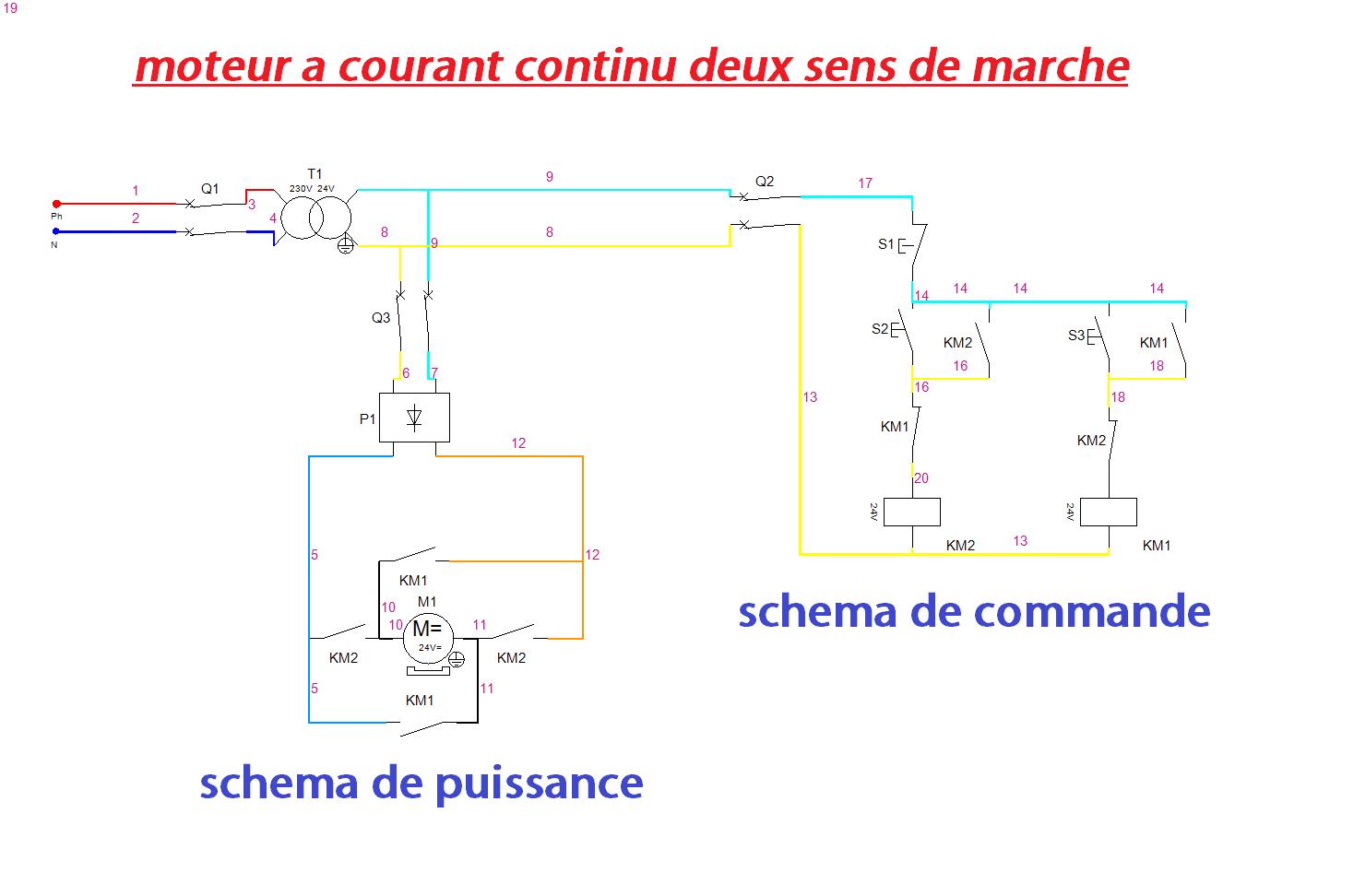 Schema electrique moteur shunt