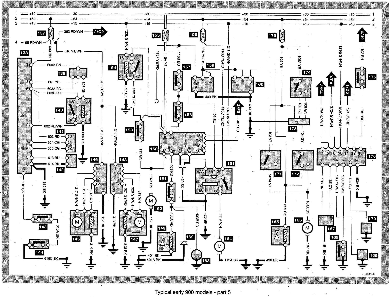 schema electrique saab 95