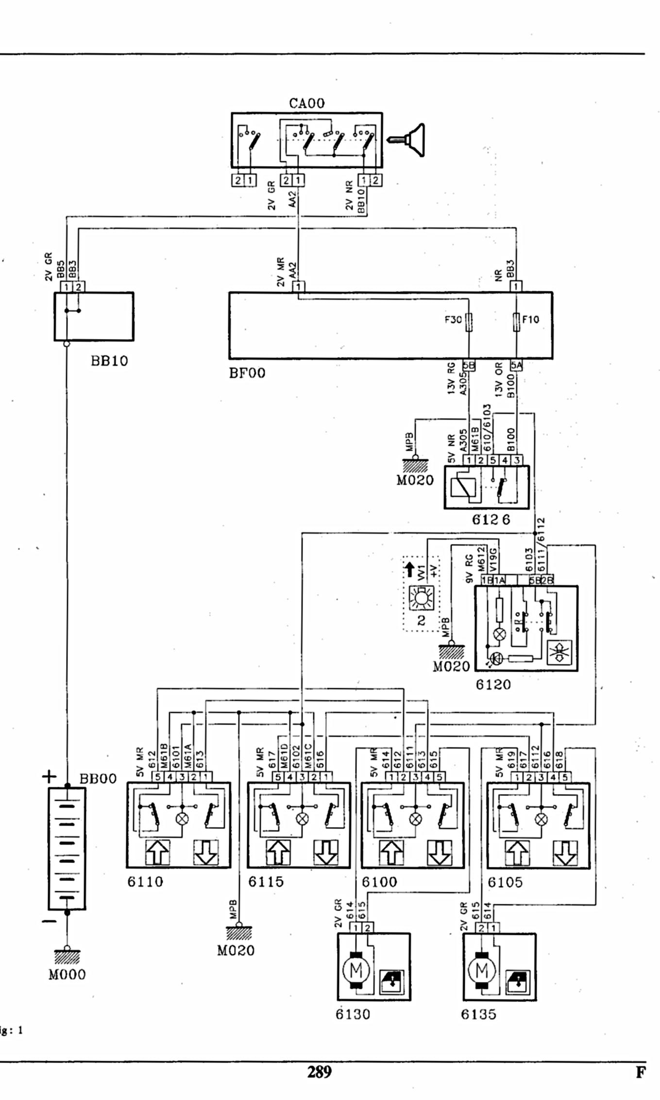 schema faisceau electrique 405 mi16