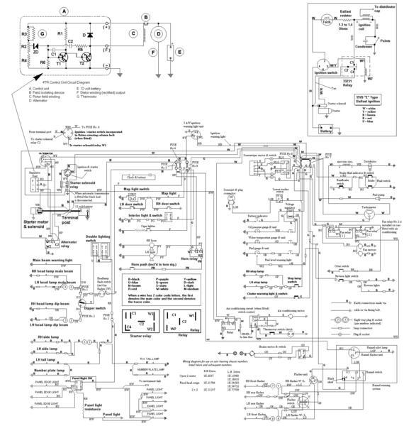 schema electrique jaguar type e v12