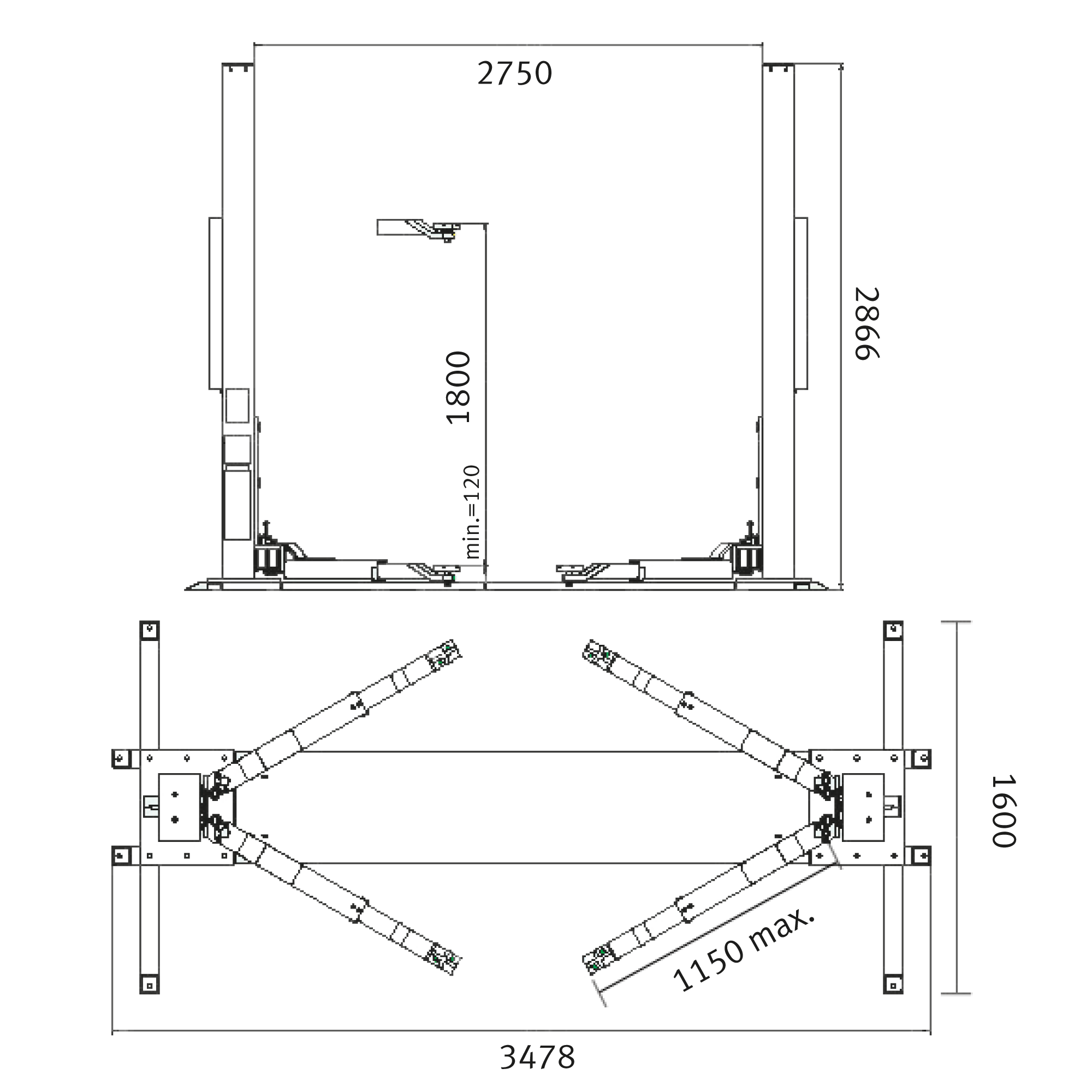 Schema electrique d'un pont elevateur
