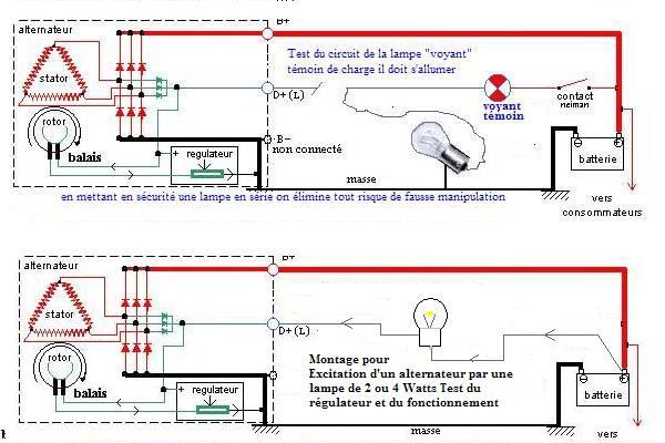 Schema electrique lampe a decharge