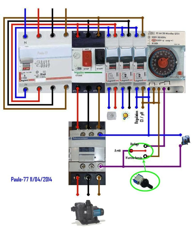 Schema relais electrique 220v