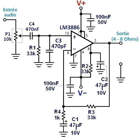 schema ampli guitare electrique