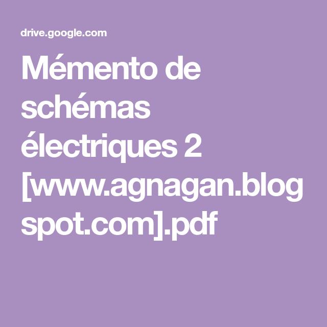 Memento schema electrique 2 pdf