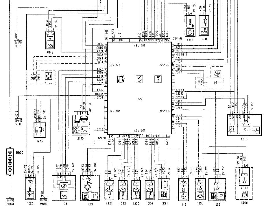 schema electrique peugeot 104