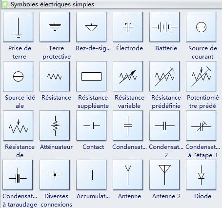 Symbole schema electrique batterie