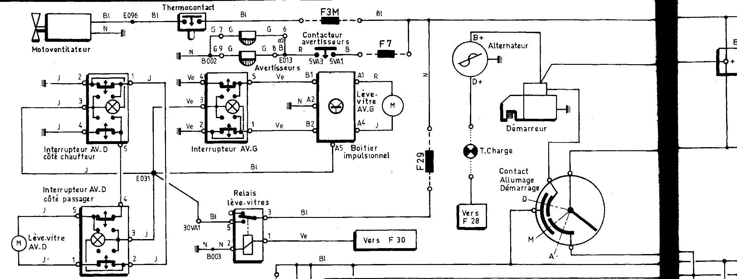 schema electrique citroen xm