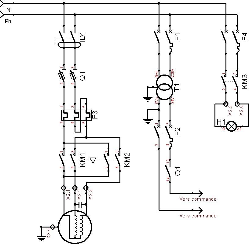 schema electrique pour moteur monophas u00e9