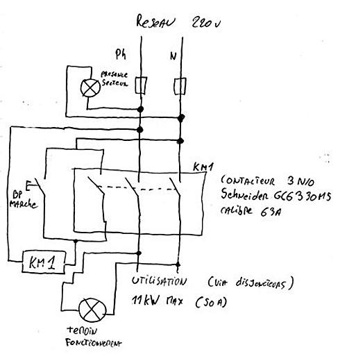 Schema contacteur electrique