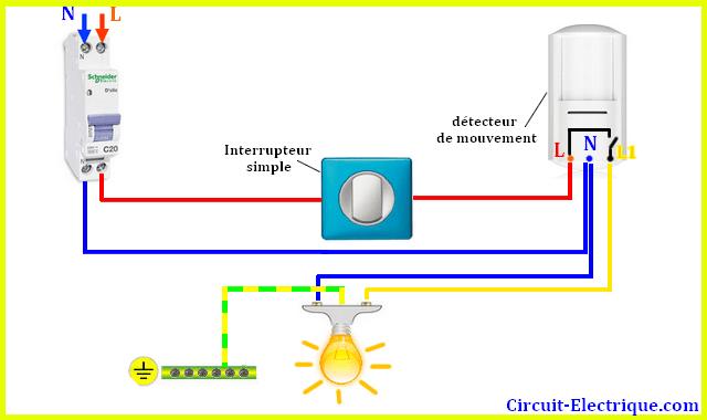 Schema electrique capteur de mouvement