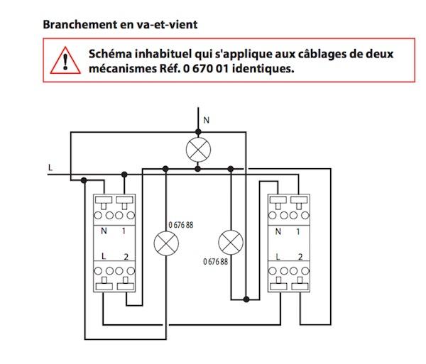 Schema electrique va et vient 3 interrupteur