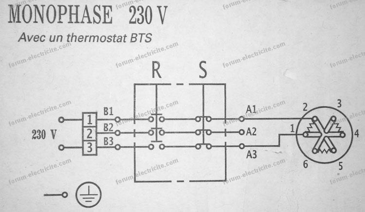 Schema electrique chauffe eau thermostat