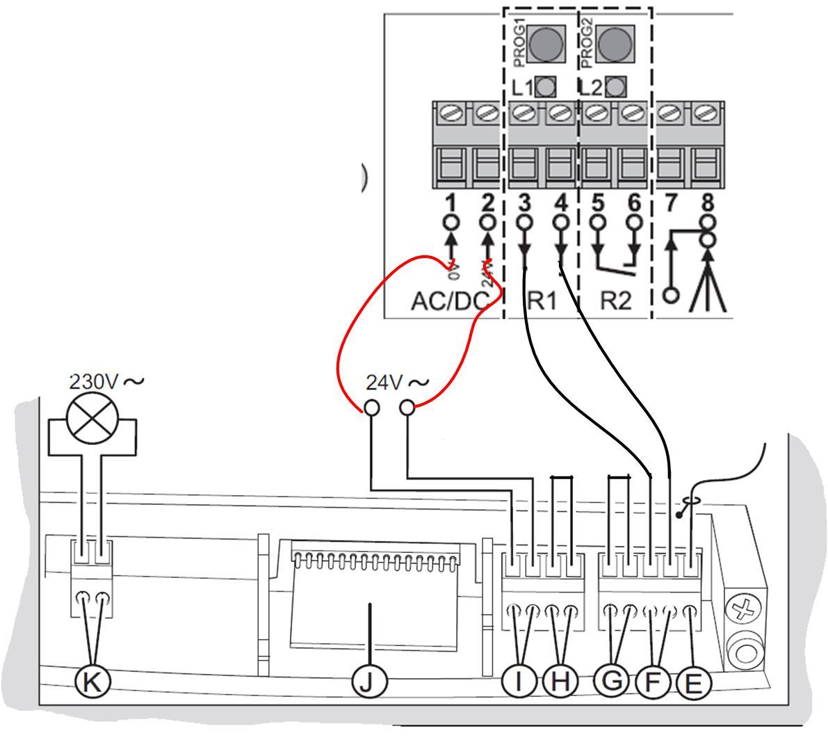 schema electrique moteur hormann supramatic
