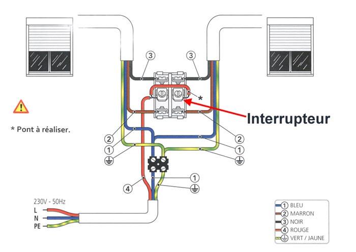 Schema installation electrique volet roulant