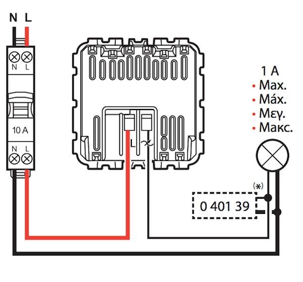 schema electrique variateur de lumiere legrand