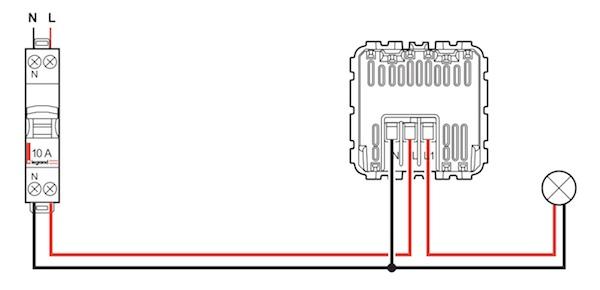 schema electrique avec deux detecteur de mouvement