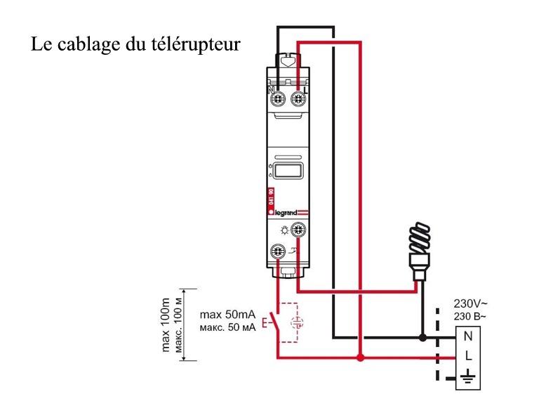 Schema de branchement electrique d'un telerupteur