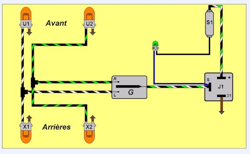 Schéma électrique clignotant